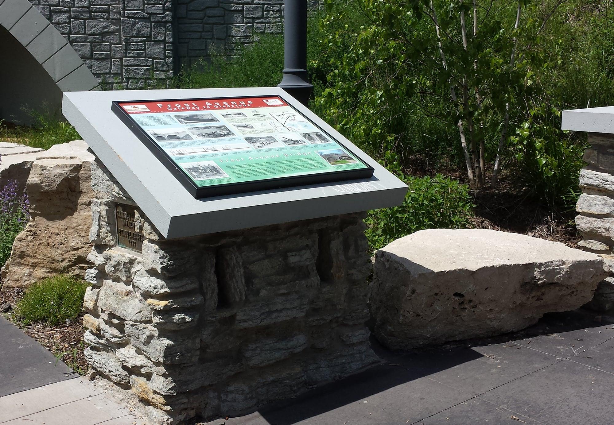 stone monument frame