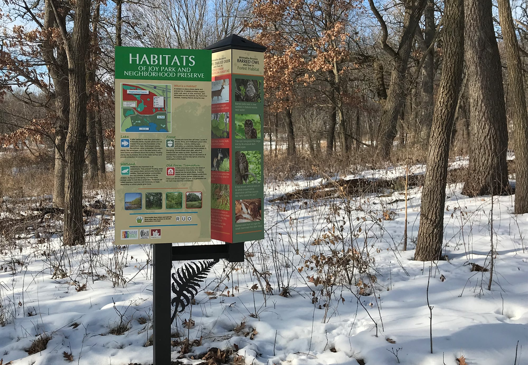 Habitat Education rotational interpretive sign
