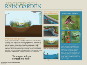 Standard Rain Garden Sign 21-3
