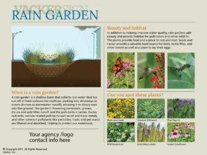 Semi-custom Rain Garden Sign 21-1