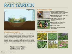 Semi-custom Rain Garden Sign 21-2