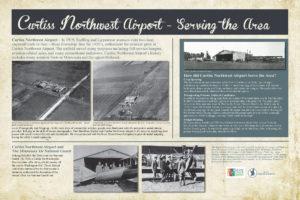 Curtiss Northwest Airport interpretive sign