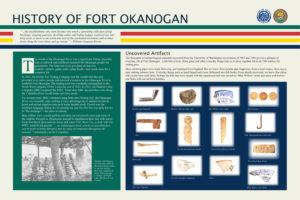 Fort Okanogan interpretive sign