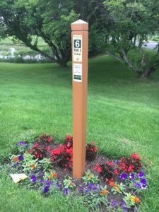 Golf Course Tee Marker Post