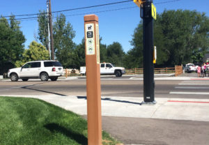 Nampa Trail Mark Post with Panel Insert