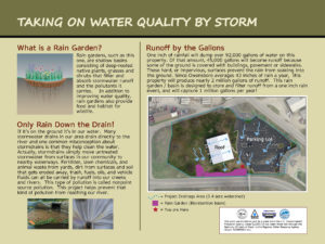 Custom water quality improvement project sign panel