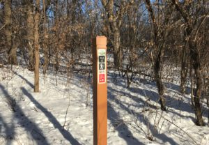 Sunfish Lake Park Trail Marker Post