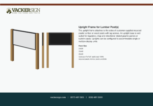 Upright Frame for Lumber Post(s)