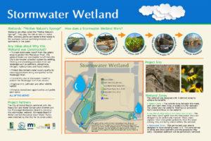 Custom stormwater wetland project interpretive sign