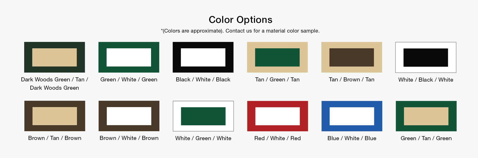 Bi-color HDPE Color Chart