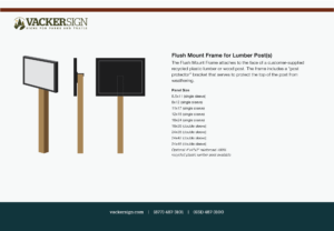 Flush Mount Frame for Lumber Posts