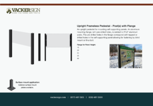 Upright Frameless Pedestal - Post(s) with Flange