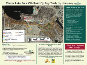 Carver Lake Mountain Bike Trail Sign