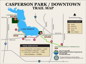 Casperson Park Downtown Trail Map Sign