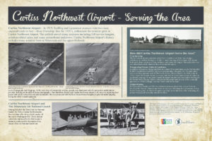 Curtiss Northwest Airport History Interpretive Sign