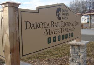 Dakota Rail Regional Trail Sign