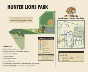 Hunter Lions Park Map Panel