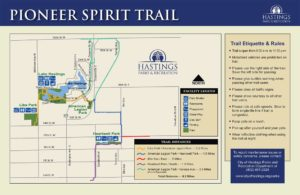 Pioneer Spirit Trail Map Sign