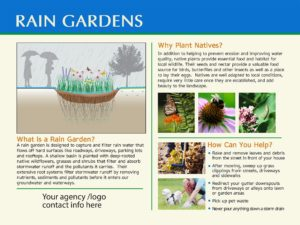Standard Rain Garden Sign #1