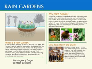 Standard Rain Garden Sign #2