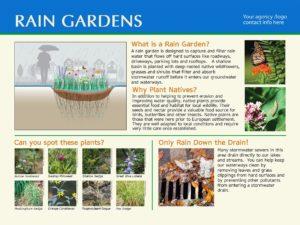 Semi-custom Rain Garden Sign #1