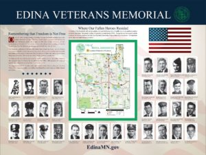 Edina Veterans Memorial Sign Panel